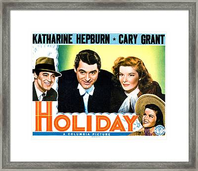 Holiday, From Left Cary Grant Framed Print by Everett