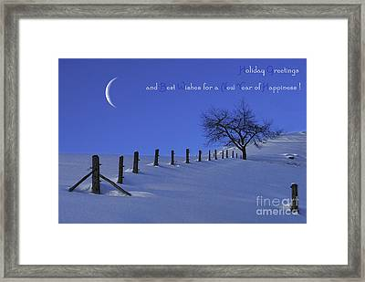 Holiday Greetings Framed Print by Sabine Jacobs