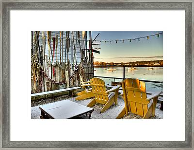 Holiday Harbor Framed Print by Brenda Giasson