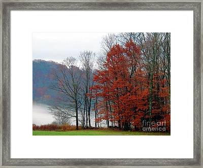 Holiday Hearald Framed Print
