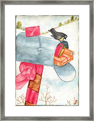 Framed Print featuring the painting Holiday Mail by Paula Ayers