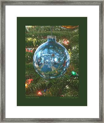 Framed Print featuring the photograph Holiday Self Portrait by Patricia Overmoyer
