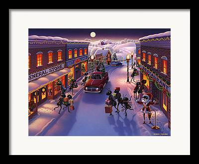 Town Character Framed Prints