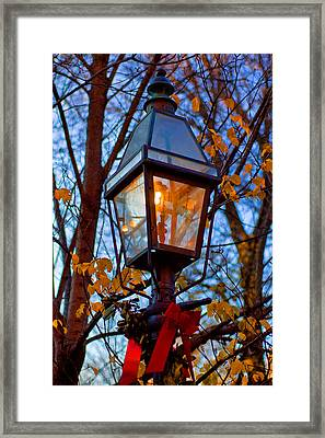 Holiday Streetlamp Framed Print by Joann Vitali