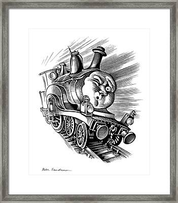 Holiday Train, Conceptual Artwork Framed Print by Bill Sanderson