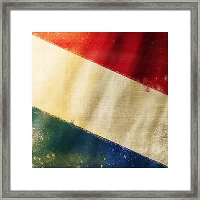 Holland Flag Framed Print by Setsiri Silapasuwanchai