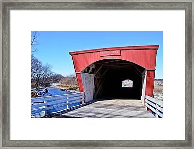 Holliwell Covered Bridge Framed Print by Julio n Brenda JnB