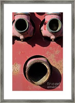 Hollow Face Framed Print by Luke Moore