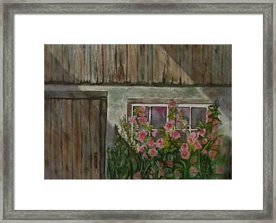 Hollyhocks Framed Print by Heidi Patricio-Nadon