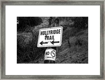 Hollyridge Trail Framed Print