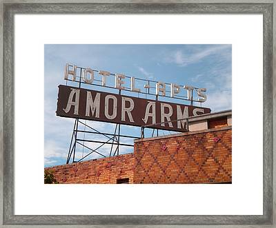 Hollywood Amor Arms Framed Print by Sandy Fisher