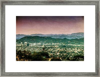 Hollywood At Sunset Framed Print by Natasha Bishop