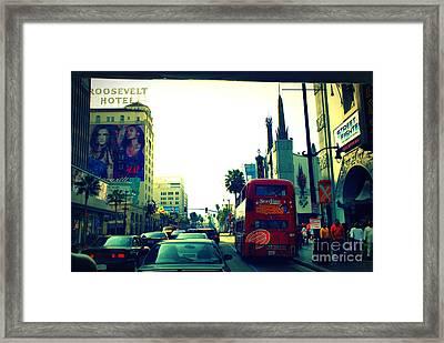 Hollywood Boulevard In La Framed Print by Susanne Van Hulst