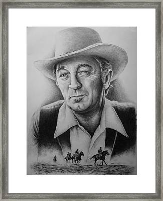 Hollywood Greats -robert Mitchum Framed Print