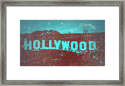 Hollywood Sign Framed Print by Naxart Studio