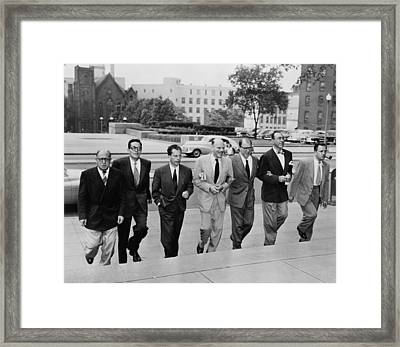 Hollywood Writers Go On Trial. Seven Framed Print by Everett