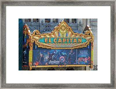 Hollywood's El Capitan Theatre Framed Print by Lynn Bauer