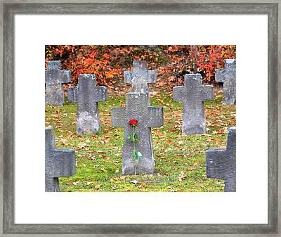 Holocaust Memorial Cross Framed Print