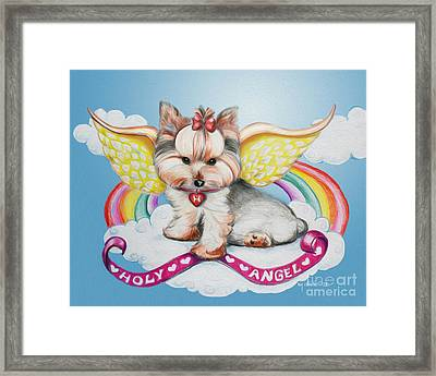 Holy Angel Framed Print