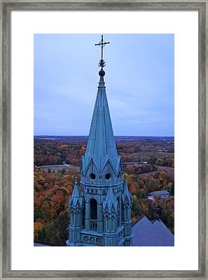Holy Hill Steeple  Framed Print by Kristine Bogdanovich