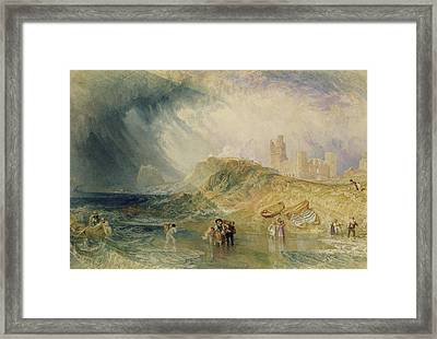 Holy Island - Northumberland Framed Print by Joseph Mallord William Turner