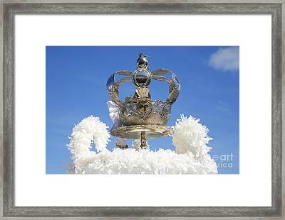 Holy Spirit Crown Framed Print by Gaspar Avila