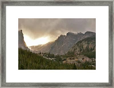 Homage To Albert Bierstadt Framed Print by Larry Darnell
