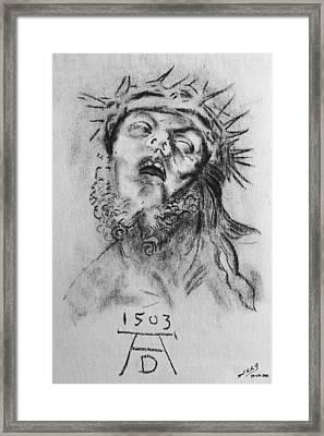 Homage To Albrecht Durer Framed Print by Miguel Rodriguez