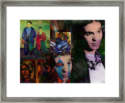 Homage To Frida Framed Print by Janet Kearns