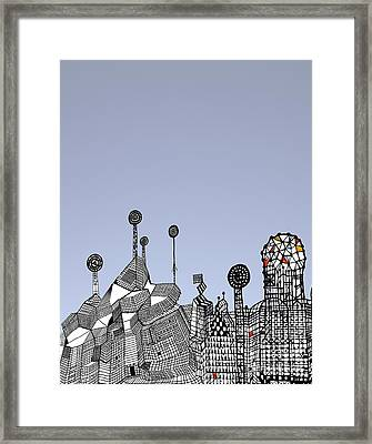 Homage To Gaudi Framed Print by Andy  Mercer