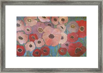 Homage To Georgia Framed Print by Rosemary Cotnoir