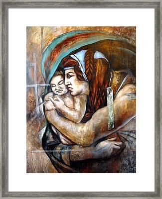 Homage To Michaelangelo Framed Print