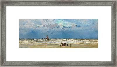 Home Again Framed Print by William Lionel Wyllie
