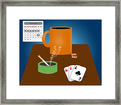 Home Alone On Saturday Night Framed Print by Anthony Caruso