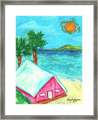 Home By Shore Framed Print by William Depaula