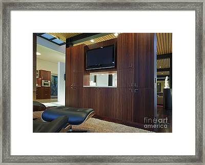 Home Entertainment Center Framed Print by Inti St. Clair