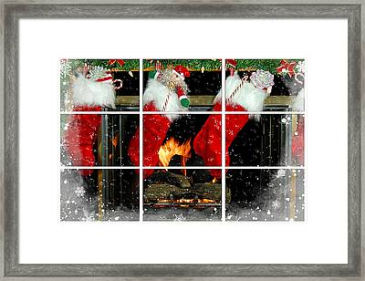 Home For Christmas Framed Print by Maria Dryfhout