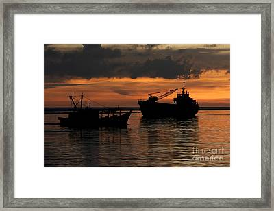 Home For The Night. Framed Print