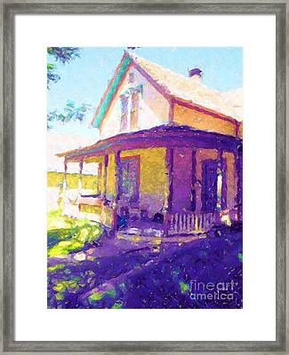 Home In The Rockies Framed Print