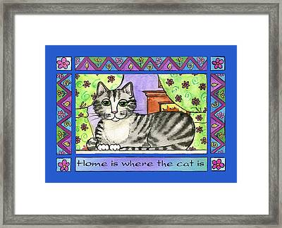 Home Is Where The Cat Is  Framed Print by Pamela  Corwin