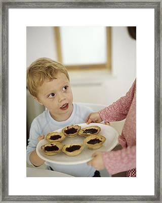 Home-made Jam Tarts Framed Print by Ian Boddy