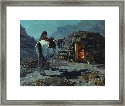 Home Of The Navajo Framed Print by Pg Reproductions
