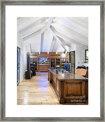 Home Office In An Attic Framed Print