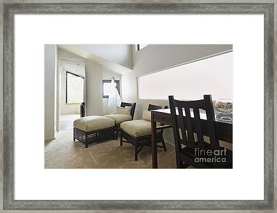 Home Office With A Chaise Lounge Framed Print