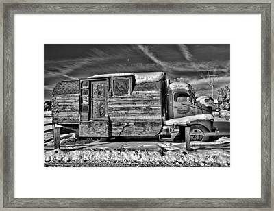 Home On Wheels - Bw Framed Print by Christopher Holmes