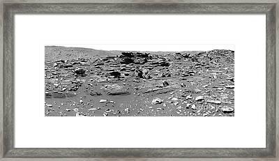 Home Plate, Mars Framed Print