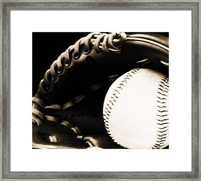 Home Run Framed Print by Lj Lambert