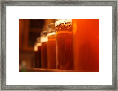 Homebrew Progression Framed Print by Robert Rizzolo