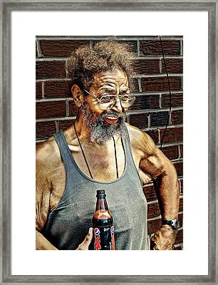 Homeless And Happy Framed Print