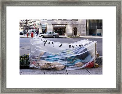 Homeless Person In Washington Dc Framed Print